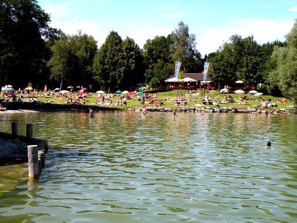 Strandbad am Simssee.