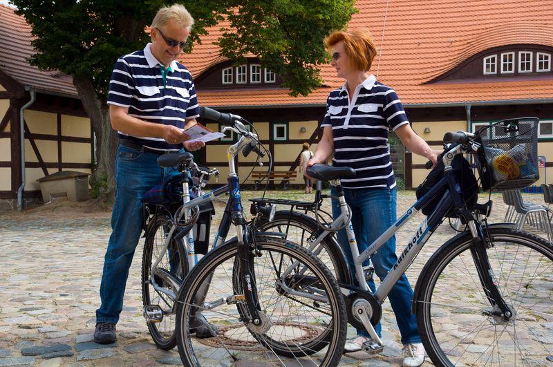 Radfahrer in Storkow, Foto: Tibor Rosteck