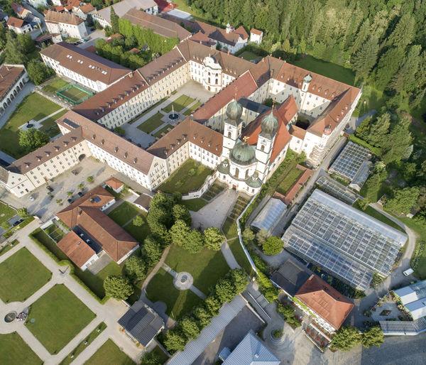 Kloster Metten aus der Vogelperspektive