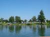 Blick auf den Zeltplatz am Friedenhain-See