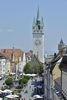 Stadtturm Straubing  mit Theresienplatz