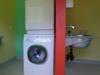 Waschmaschine und Badezimmer Infrastruktur