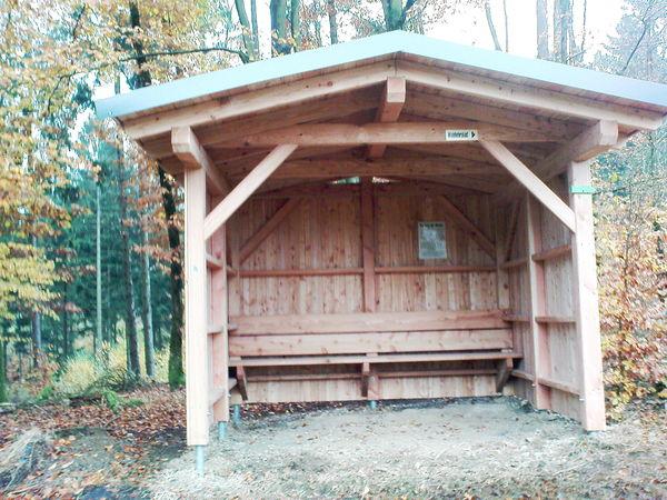 Die Schutzhütte Kaukenberg