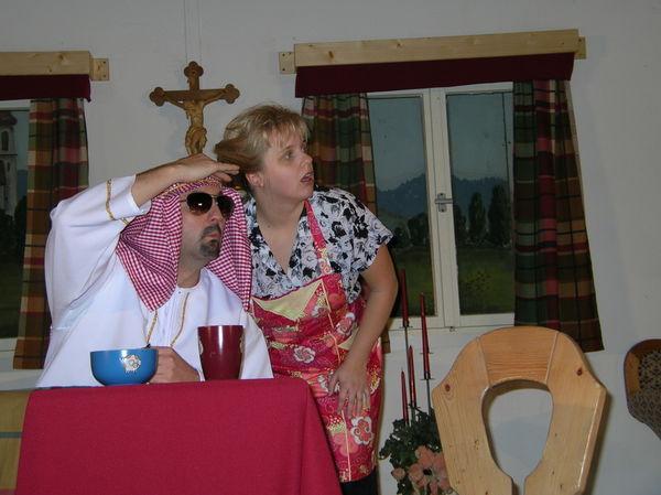 Szene aus einem Stück der Theatergruppe der FFW Teisnach