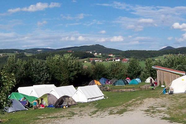 Zelten auf dem Ferienhof Schiermeier in Thyrnau