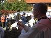 Pferde und Reiter erhalten den Segen beim Leonhardi-Umritt in Kellberg im Passauer Land
