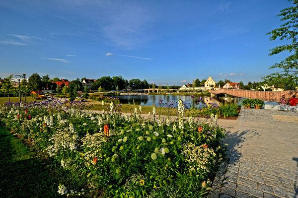 Blick auf den Fischhofpark