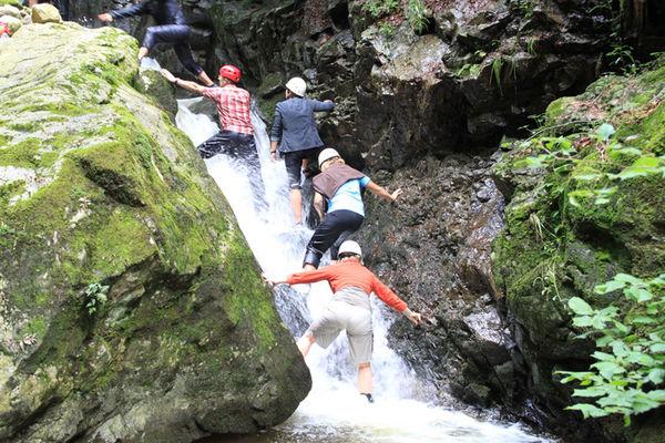 Wasserfall in der Langenbachschlucht