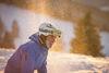 Skifahrer in der Sonne