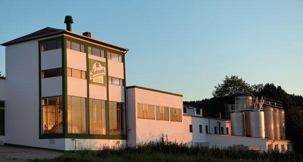 Blick auf das Sudhaus der Hofmark Brauerei in Loifling bei Cham