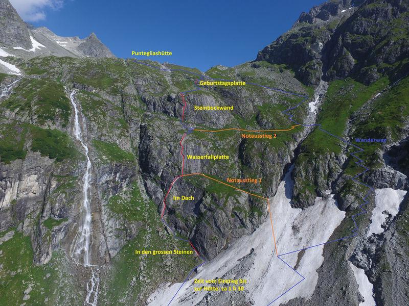 Klettersteig Wimmis : Klettersteig punteglias surselva