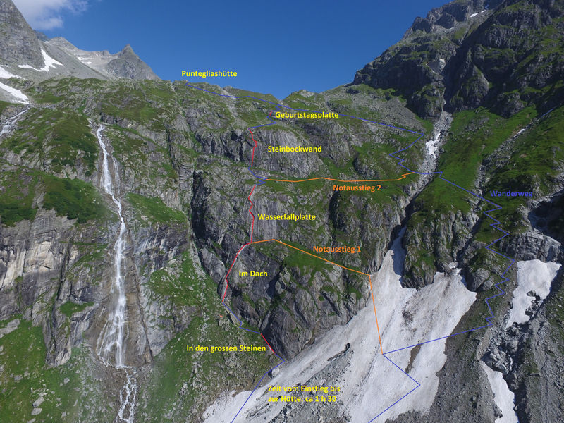 Klettersteig Map : Klettersteig punteglias surselva