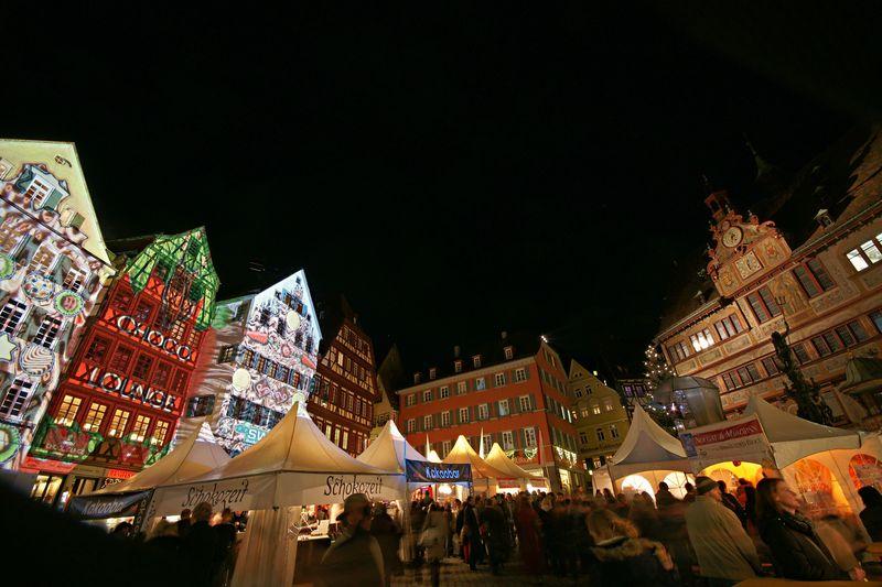 chocolART auf dem Tübinger Marktplatz