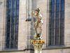 St. Georg, der Drachentöter am Holzmarktbrunnen