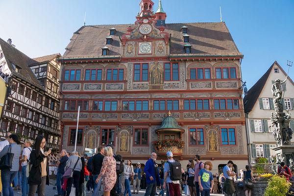 Das historische Rathaus von Tübingen