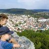 Bonberg Zimmerturm mit Blick auf die Stadt Tuttlingen