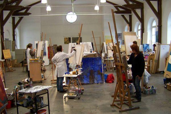 Malraum der Freien Kunstakademie Überlingen