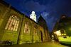 Münster Sankt Nikolaus bei Nacht