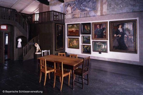Großes Atelier im Künstlerhaus Exter.