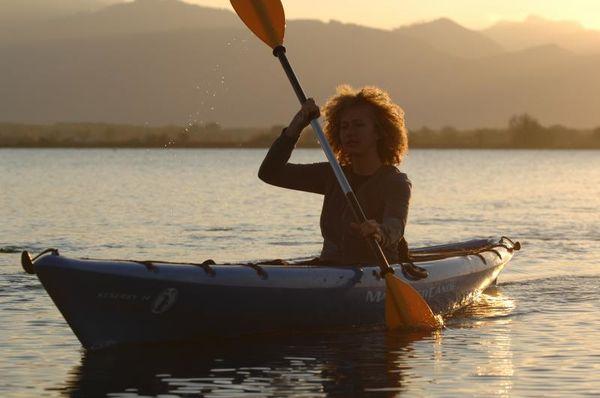 Kanu auf dem Chiemsee