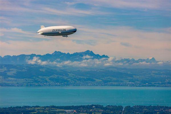 Flug mit dem Zeppelin NT über den Bodensee