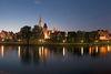 Ulmer Donaupanorama bei Nacht