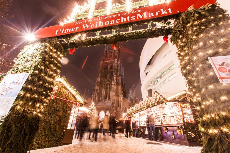 Eingang des Ulmer Weihnachtsmarktes