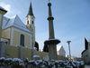 Winteransicht Pranger und Pfarrkirche in Untergriesbach - Copyright: Tourist-Information Untergriesbach