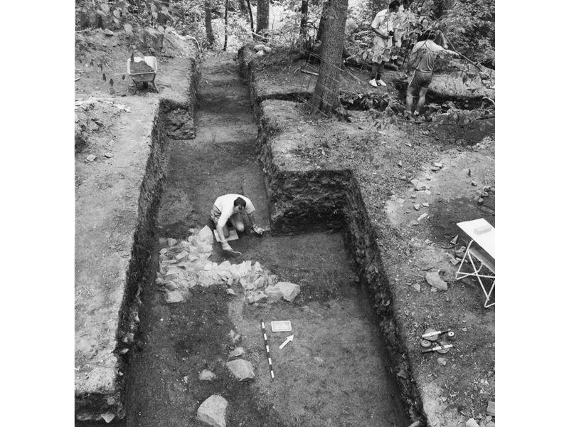Ausgrabungsarbeiten bei der ehemaligen Burganlage Vormhaus bei Untergriesbach