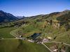 Zeltplatz Davos Munts aus der Vogelperspektive