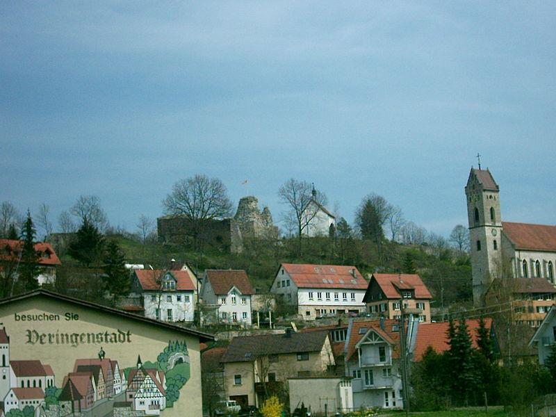 Burganlage in veringenstadt