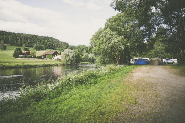 Campen am Schwarzen Regen bei Viechtach