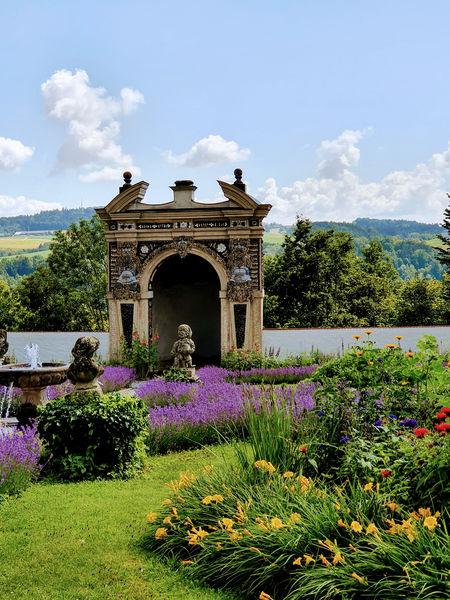 Muschelgrotte Garten Schloss Neuburg a. Inn