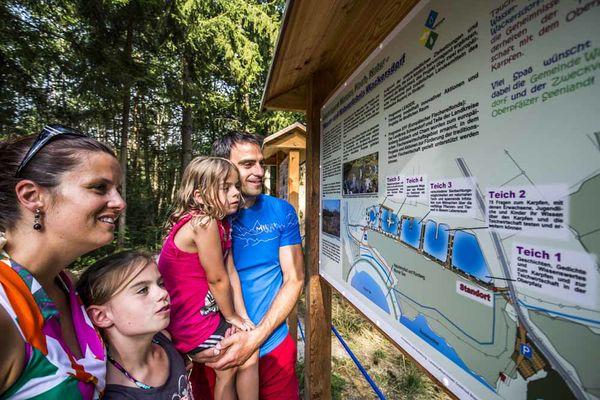 Erlebnispark Wasser-Fisch-Natur im Oberpfälzer Wald.
