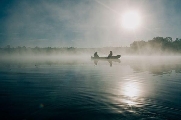 Angelboot auf dem Edersee