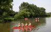 Bootstour auf dem Fluß Regen bei Nittenau im Landkreis Schwandorf