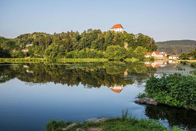 Blick auf das Schloss Stefling