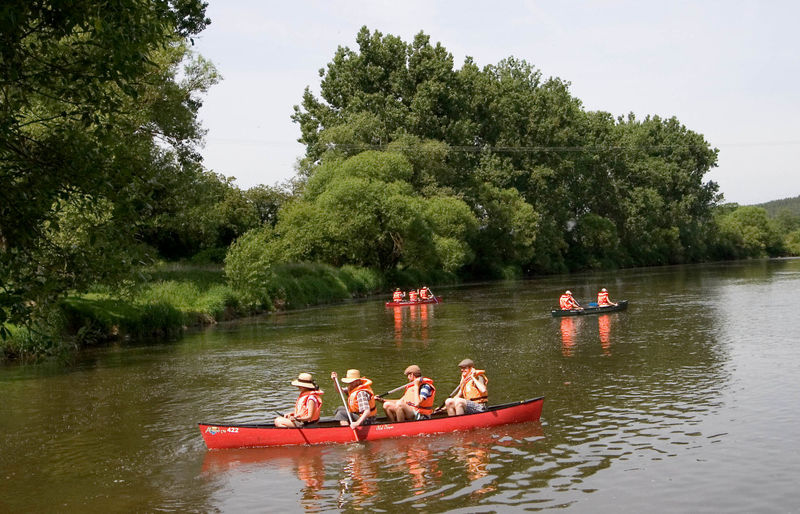 Kanutour auf dem Fluss Regen bei Nittenau