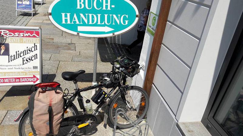 Lademöglichkeit für E-Bikes an der Touristinfo Waldkirchen