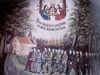 Alte Votiv-Tafel des Emmausganges mit Karoli-Kapelle und Pilgergruppe