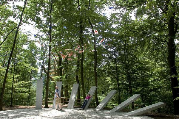 Über den Waldkirchner Marktplatz führt der Weg vorbei an den Himmelsstangen