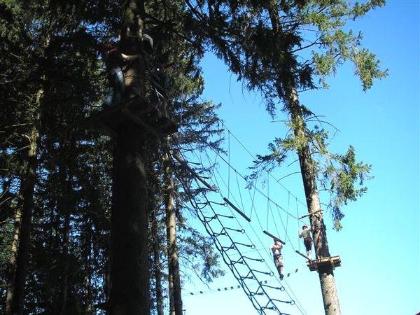 Nervenkitzel im Kletterwald Waldkirchen im Bayerischen Wald