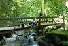 Wanderer im Naturschutzgebiet Saußbachklamm bei Waldkirchen