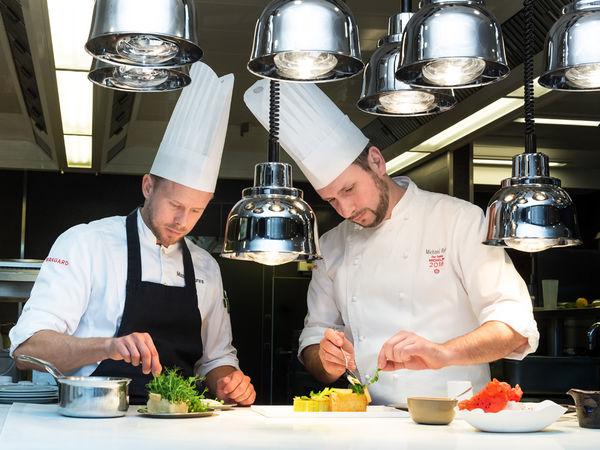 Blick in die Sterneküche des Restaurant Johanns