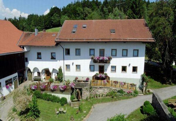 Blick auf den Traumhof Schätzl bei Waldkirchen