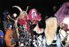 Furchterregende Masken gibt es bei der Waldkirchner Rauhnacht