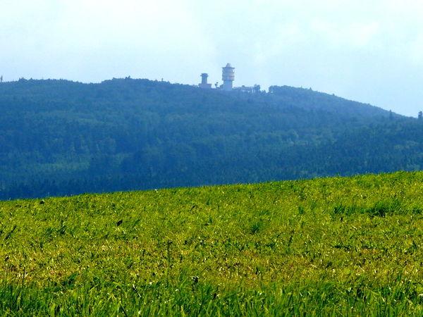 Blick von Herzogau zum Cerchov auf dem Glasschleiferweg bei Waldmünchen