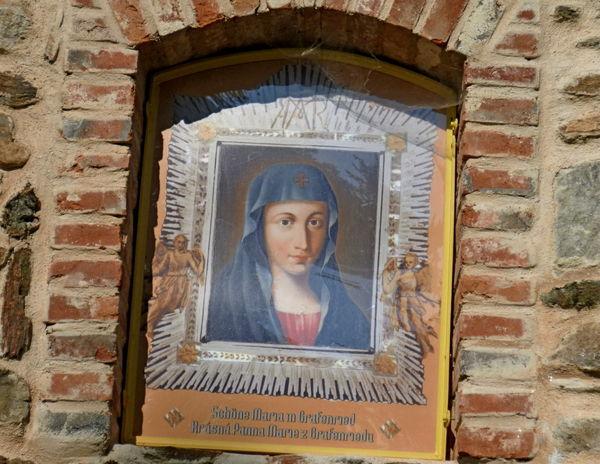 Bildnis bei der freigelegten Grafenrieder Kirche St. Georg