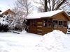 Blick im Winter auf den Ferienhof Schlag in Hocha bei Waldmünchen