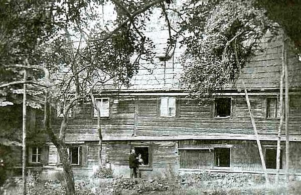 Die Kreuzhütte um 1890 (Historisches-Privat-Bildarchiv: Hansjörg Schneider, Waldmünchen)